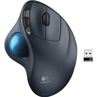 Logitech M570 Wireless Trackball Mouse Right Handed