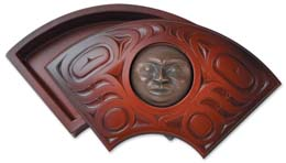 Box with Bronze Face Design