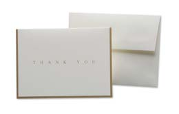 Cards, Ivory, Set of Five, Thank You