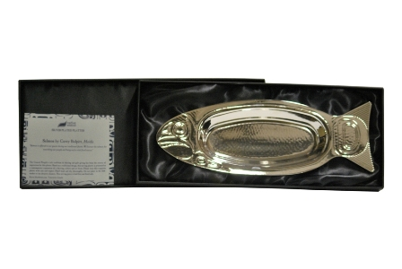 Silver Plated Platter, Salmon