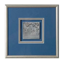 Framed Pewter Legislative Buildings Plaque