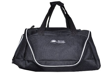Sports Black Duffle Bag, Mens