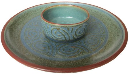 A Pottery Bowl and Platter, Hand Made