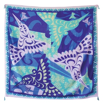 A Tapestry Scarf, Hummingbirds