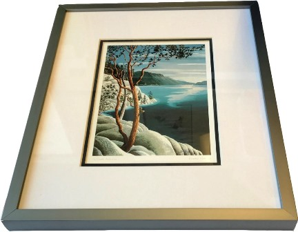 Framed Art Card, Cliffside Arbutus