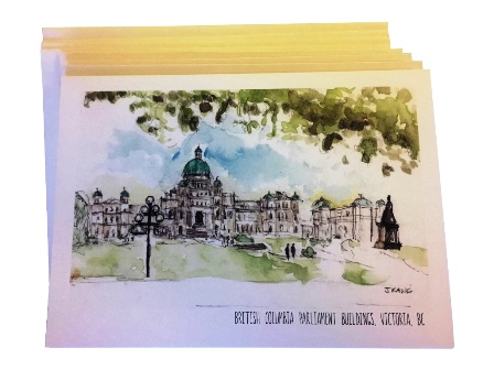 Cards, Set of Four, British Columbia Parliament Buildings