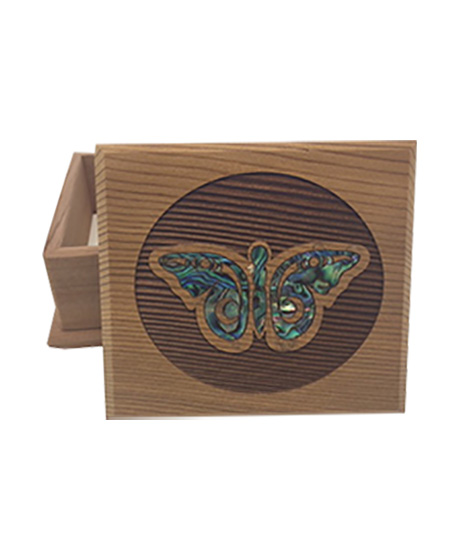 Box Bentwood, Butterfly Design