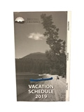 2019 - VACATION SCHEDULE