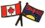 Pin, British Columbia and Canada Crossed Flags