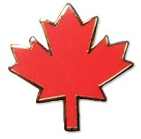 Pin, Red Maple Leaf