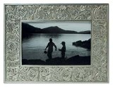 Pewter Aboriginal Design Photo Frame