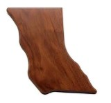Blank Walnut Plaque, Shape of BC