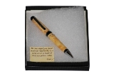 A Handmade Yellow Cedar Pen