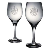 Wine Glasses with BC Coat of Arms