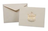 Card, Cream with Gold Embossed BC Coat of Arms Logo