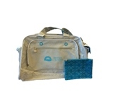 Grey and Teal, Sports Duffle Bag for Her