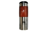 Travel Mug, Stainless Steel with Wood Grain Finish with BC ID Logo