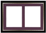 Certificate Frame, Dual Black and Burgundy