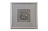 Framed Pewter Dogwood Plaque