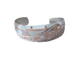 OS, Silver and Copper Bracelet, Killer Whale
