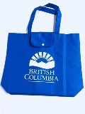 Blue folding Reusable Bag with BC ID Logo