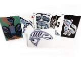 Cards, Set of Twelve with Haida Designs