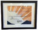 Certificate Frame, Black Wood