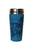 Travel Mug, Stainless Steel, Whale Rising