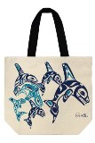Canvas Tote, Orca Family
