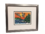 Framed Art Card, Soaring Birds