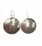 MMM, Earrings, Circle Silver Large