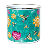 Garden, Bee and Blossom Plant Pot