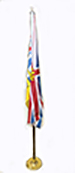 Flag with pole, British Columbia Indoor use kit